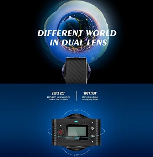 ELE CAM 360 Grad Panorama Kamera VR-Vollsphärenkamera 220° Fisheye - 3