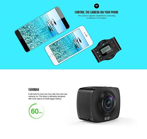 ELE CAM 360 Grad Panorama Kamera VR-Vollsphärenkamera 220° Fisheye - 5