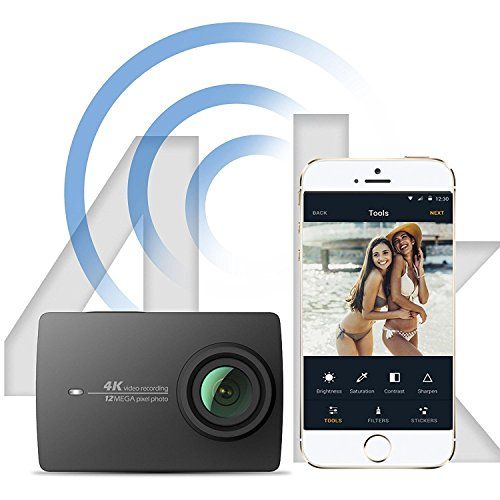 YI 4K Action Kamera Full HD 12MP Actioncam WIFI mit 155° Weitwinkel Schwarz - 5