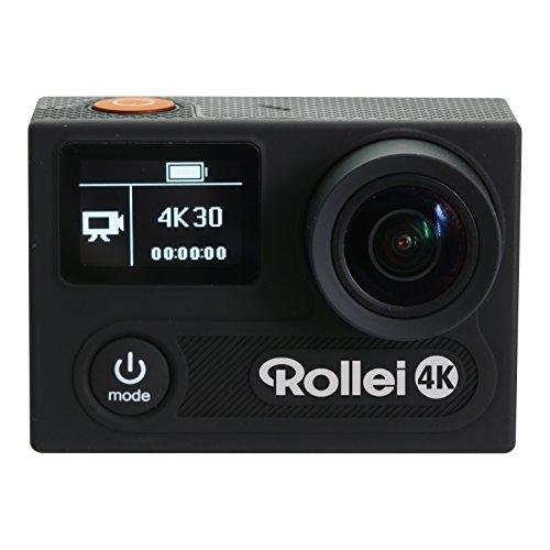 Rollei Actioncam 430 - Leistungsstarker WiFi Camcorder mit 4K, 2K, Full HD Videoauflösung und Slow-Motion, U3 Karten verwenden - Schwarz - 4