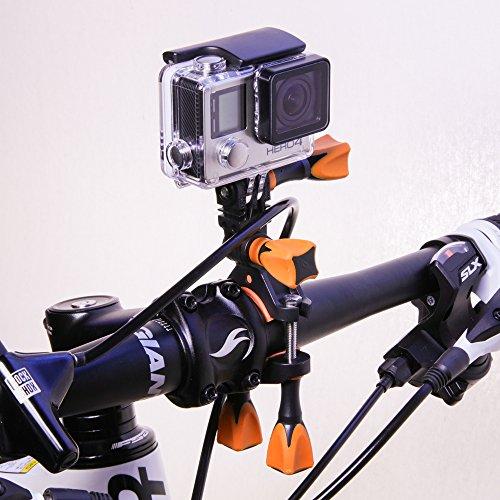 iSHOXS Fahrrad-Halter Bike Mount, ideale Montagebasis für GoPro Hero und kompatible Action-Kameras zur Anbringung an Karts, Motorrädern, Überrollbügeln oder Fahrrad-Lenker - 3