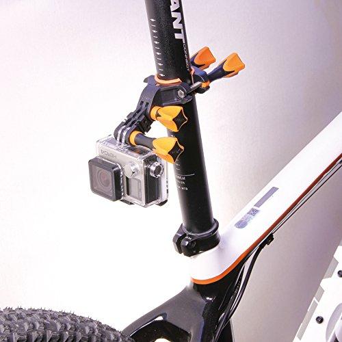 iSHOXS Fahrrad-Halter Bike Mount, ideale Montagebasis für GoPro Hero und kompatible Action-Kameras zur Anbringung an Karts, Motorrädern, Überrollbügeln oder Fahrrad-Lenker - 4