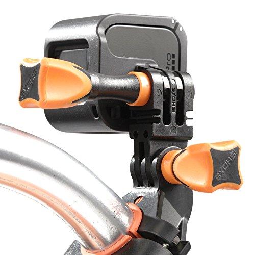 iSHOXS Fahrrad-Halter Bike Mount, ideale Montagebasis für GoPro Hero und kompatible Action-Kameras zur Anbringung an Karts, Motorrädern, Überrollbügeln oder Fahrrad-Lenker - 5