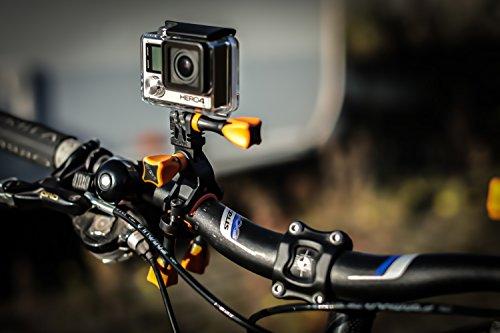 iSHOXS Fahrrad-Halter Bike Mount, ideale Montagebasis für GoPro Hero und kompatible Action-Kameras zur Anbringung an Karts, Motorrädern, Überrollbügeln oder Fahrrad-Lenker - 6