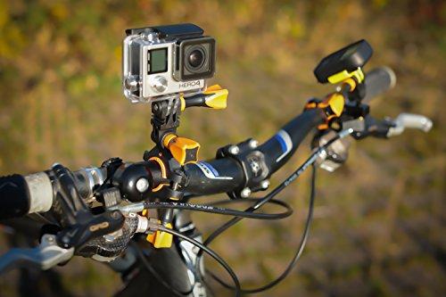 iSHOXS Fahrrad-Halter Bike Mount, ideale Montagebasis für GoPro Hero und kompatible Action-Kameras zur Anbringung an Karts, Motorrädern, Überrollbügeln oder Fahrrad-Lenker - 7