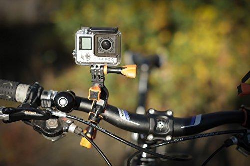 iSHOXS Fahrrad-Halter Bike Mount, ideale Montagebasis für GoPro Hero und kompatible Action-Kameras zur Anbringung an Karts, Motorrädern, Überrollbügeln oder Fahrrad-Lenker - 8
