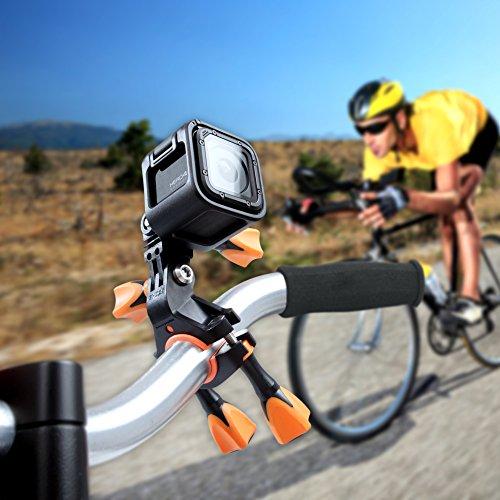 iSHOXS Fahrrad-Halter Bike Mount, ideale Montagebasis für GoPro Hero und kompatible Action-Kameras zur Anbringung an Karts, Motorrädern, Überrollbügeln oder Fahrrad-Lenker - 9