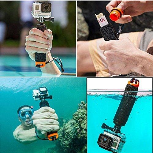Racksoy Wasserdicht Aufschwimmende Griff Halterung Stange Flotieren Stick für Gopro Hero 5, 4, 3+, 3, 2, 1 und Action Cam, Sport Kameras usw. - 2
