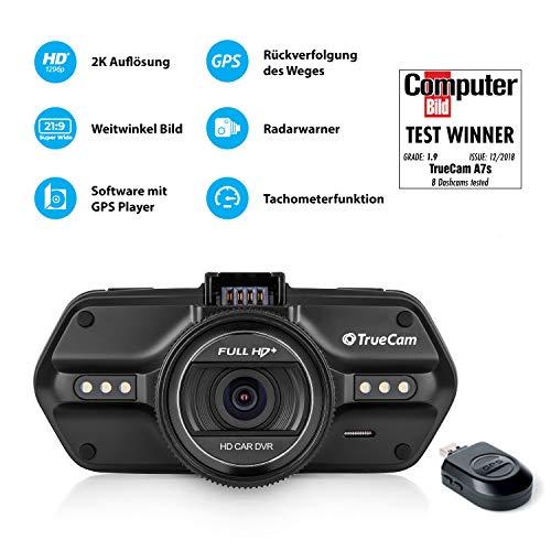 TrueCam A7s GPS Professionelle Dashcam Autokamera 2K Super HD (Full HD 1080p Bei 21:9 Super Breitbild) mit Blitzerwarner - 2