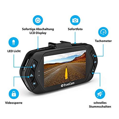TrueCam A7s GPS Professionelle Dashcam Autokamera 2K Super HD (Full HD 1080p Bei 21:9 Super Breitbild) mit Blitzerwarner - 5