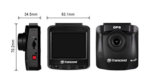 Transcend TS16GDP230M DrivePro 230 Full-HD Autokamera (6,1 cm (2,4 Zoll), Farbdisplay, Inklusive 16GB Micro SDHC Speicherkarte, MLC, Wifi, Speed Alarm, GPS) schwarz - 6