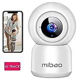 WLAN IP Kamera Überwachungskamera 1080P,IP Kamera WiFi Mibao Nachtsicht 2 Wege-Audio Smart,Home Kamera/Haustier Baby Kamera IP Kamera,App Steuerung...