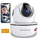SuperEye 1080P WLAN Kamera mit Nachtsicht,Überwachungskamera IP Kamera Indoor WLAN,Smart Home WiFi Kamera,Bewegungsmelder,2-Way Audio,App Kontrolle...