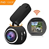 HQBKing WiFi DashCam 1080P Full HD Armaturenbrett Kamera Mini Magnetische Auto DVR mit G-Sensor Nachtsicht Loop Aufnahme Bewegungserkennung 360 °...