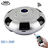 BILLY'S HOME IP-Sicherheit Camera,360 Grad Panorama-Funkkamera WiFi Telefon Fernbedienung HD Two-Way Audio und Night Vision Überwachungskamera,...