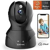 Wlan IP Kamera,KAMTRON HD WiFi Überwachungskamera,mit 350°/100°Schwenkbar,Home und Baby Monitor mit Bewegungserkennung, Zwei-Wege-Audio,...