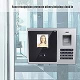 ASHATA Fingerabdruck Zeiterfassung, 2.8 Zoll LCD Gesichtserkennung Fingerprint Recorder,Dual-Kamera USB Biometrische Fingerabdruck 360-Grad...
