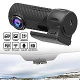 Eleganantstunning 360 Grad Rotation HD Nachtsicht USB Wireless Bewegungserkennung Weitwinkel Mini WiFi Driving Recorder TF-Karte Loop-Cycle Aufnahme