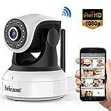 Sricam 1080P Wlan IP Kamera Indoor Überwachungskamera Innen Handy, Hund/ Baby Monitor mit P2P Infrarot Nachtsicht - Bewegungserkennung - Zwei Wege...