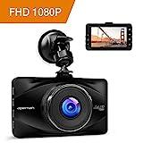 apeman Full HD 1080P Dashcam Autokamera Video Recorder mit 170° Weitwinkelobjektiv, 3 Zoll LCD-Bildschirm, WDR, Bewegungserkennung, Parkmonitor,...