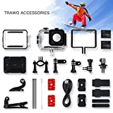 APEMAN Trawo Action Cam 4K WiFi Kamera Ultra HD 20MP Unterwasser Wasserdicht 40M Camcorder mit 170° Ultra-Weitwinkel EIS Stabilisierung Dual...