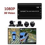 1080P HD 3D Panorama-Kamera 360 Grad Nahtlose Surround-Ansicht Digitaler Video Rekorder Park System, Auto-Kamera Alle Rund Nacht Vision Wasserdichte...