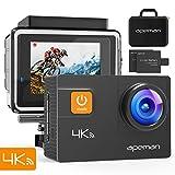 APEMAN 4K Action Cam 20MP WiFi Wasserdichte Unterwasser Kamera 40M Digitale Videokamera mit EIS, Zwei verbesserten Batterien, Transportskoffer