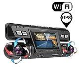 Dashcam,2160P UHD GPS WiFi Vorne und Hinten Dual Kamera 170 Grad Weitwinkel Dashcam Auto mit 256 GB Micro SD Karte,WDR Sony Nachtsicht...