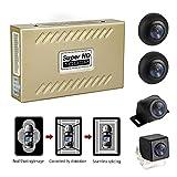 WeniChen 360-Grad-Vogelblick Einparkhilfe Panoramaansicht Allround-4 HD-Kamerasystem mit DVR Parküberwachung Fahraufzeichnung für alle Autos